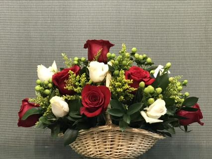 Winter Rose Basket