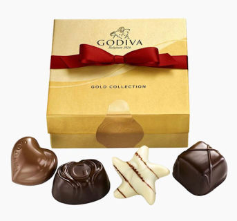 Godiva 4-PC Ballotin Box of Chocolate
